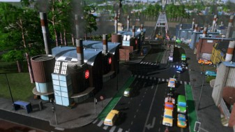 Main city north-south road through the industrial complex